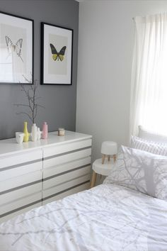 Ikea malm with painted stripe
