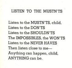 Shel Silverstein is on of my faves... he was as wise as Dr. Seuss and that makes him a genius in my book