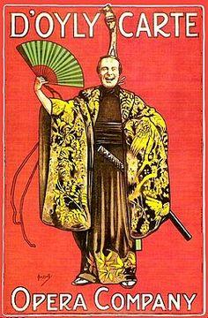 Theatre poster for The Mikado