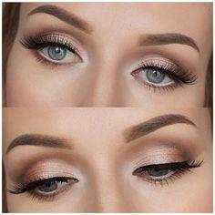 #blush #wedding #makeup #eyes Abbey's choice- Bridesmaid eye makeup Metallic Makeup, Blue Eye Makeup, Makeup For Brown Eyes, Makeup Light, Makeup Lipstick, Bridal Makeup For Blue Eyes, Soft Eye Makeup, Bridal Eye Makeup, Dramatic Makeup