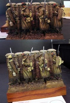 British trench diorama