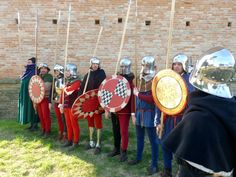 Late 1400s Italian infantry rotella shields