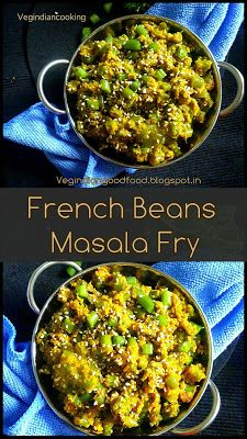 How to make French Beans Masala Fry Fried Fish Recipes, Vegetable Recipes, French Beans Recipe Indian, Green Beans Recipe Indian, Curry Recipes, Vegetarian Recipes, Rice Recipes, Recipies, Indian Cookbook