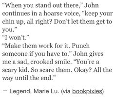 This quote... You feel the tension and the anxiety...
