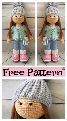 Adorable Crochet Molly Doll - Free Pattern #freecrochetpatterns #doll