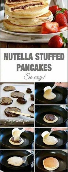 Imagen de food, nutella, and pancakes