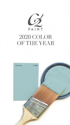 Announcing our 2020 Color of the Year, Salty Brine, C2-701! Click to our blog to read about why we chose this color and view additional trending colors for upcoming year! #paint #interiordesign #color #home #design #decor #blue #green #bedroompaintcolors