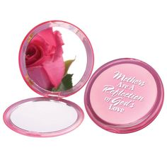 Mothers Are A Reflection Of God's Love Pink Compact Mirror