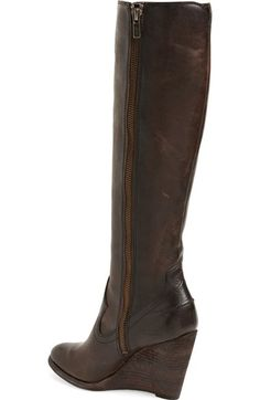 Free shipping and returns on Frye 'Cece' Tall Wedge Boot (Women) at Nordstrom.com. A distressed, stacked leather heel enhances the rugged style of this Western-inspired boot shaped from washed antiqued leather.