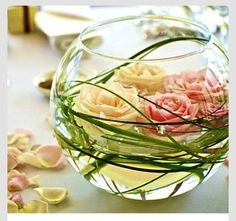 Ten (10) 12 Inch Round Glass Bubble Bowl Vases