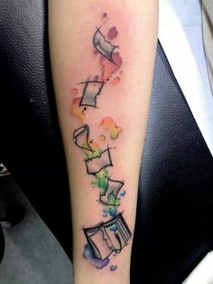 Rainbow watercolor tattoo by @Loxiput tattoo ,france