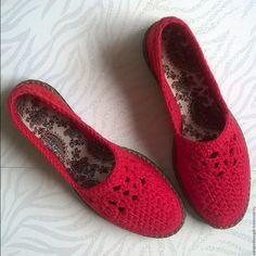 Купить туфли красные женские - ярко-красный, обувь ручной работы, обувь на заказ
