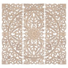 white floral wood wall art panel indian wood carved wall hanging