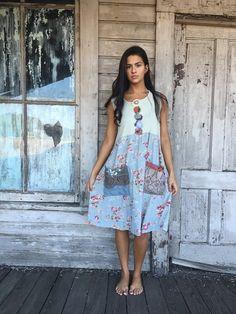 Thelma dress-large xlarge-artsy-Eco clothing-upcycled clothing-Anthropologie inspired-by Love HIGHER Handmade Clothing