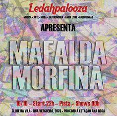 Ledahpalooza - flyer digital para banda convidada