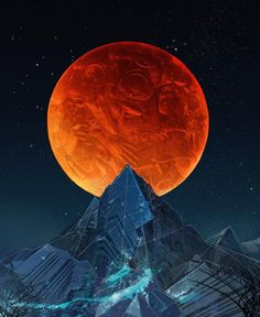 full blood moon power by Android Jones / Sacred Geometry <3