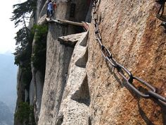 The extreme stimuli, for the #adrenaline #seekers. The #most #dangerous #tourism #route in the world. #Huashan #Mountain, #China.