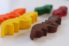 Broken crayon bits + a silicone ice cube tray = new and fun crayons!