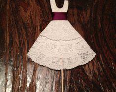 Food Picks Hors D'ouevres wedding dress Set of 12 by cupcake555