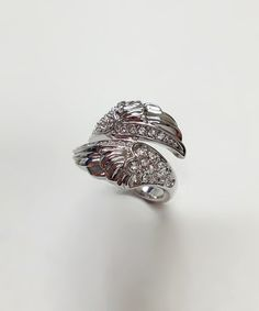 Love this Crystal & Silver Wings Ring