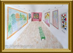 Made by Debbie, grade 6 You need:  drawing sheet A4 size  colour pencils  ruler  A lesson about drawing one point perspective.   Students dr...