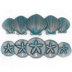 Scallop And Sand Dollar Drawer Handles Sea Life Cabinet S