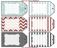 Loads of FREE printables including this printable of gift tags.