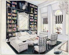 """Bond Street Interior"" Art Print by Foster Art & Design.  Prints for sale https://www.etsy.com/listing/181081193/bond-street-interior-original-art-print?ref=shop_home_feat_3"
