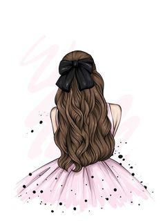 Beautiful Girl Drawing, Cute Girl Drawing, Cartoon Girl Drawing, Cartoon Girl Images, Girl Cartoon, Cartoon Art, Cute Anime Girl Wallpaper, Theme Mickey, Girly Drawings