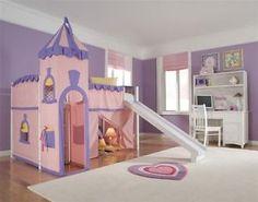 Princess Castle Bunk Bed Fairytale Loft Girls Trundle Fort Playhouse Canopy