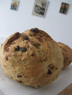 Homemade walnut and raisin bread just out of the oven. Ready for breakfast at Le Casse-Noix B&B.