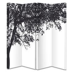 Paravan de camera alb cu profil arbore