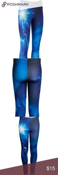 {Disney} Frozen Leggings Size L. NWOT. Super sleek and stretchy. Perfect for the inner Disney fan in you! Disney Pants Leggings