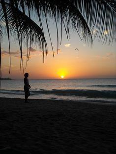 Beach at Sunset in Jamaica