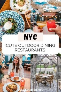 The cutest outdoor dining restaurants in NYC. Where to eat in NYC thats unique. Places to go for your NYC food bucket list. NYC aesthetic. NYC travel guide. New York Restaurants Nyc Hotels, York Restaurants, Drinking Around The World, New York City Travel, Outdoor Dining Set, Living In New York, Foodie Travel, So Little Time, Places To Eat