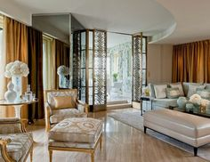 The new penthouse suite design by Pierre-Yves Rochon at the Four Seasons Hotel George V Paris