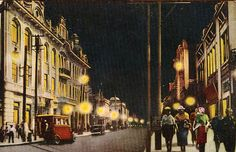 A postcard from 1920s or 30s shows the cosmopolitan atmosphere of old Harbin, which was christened Eastern Paris or Eastern Moscow or St. Petersburg. At one time it was the only city in the Far East with a larger foreign than native population and contained almost as many foreign consulates as Shanghai. [source] Willy S Thomas ~ AN AMERICAN IN CHINA: 1936-39 A Memoir