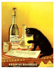 Who gives their cat absinthe? Aren't they bipolor enough?