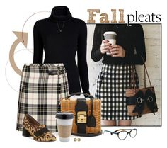 """""""Fall Style: Pleats"""" by fashionista88 ❤ liked on Polyvore featuring Inhabit, Miu Miu, OUTRAGE, Tabitha Simmons, ZoÃ« Chicco, Carousel Jewels, preppy, geekchic, mixedprints and pleats"""