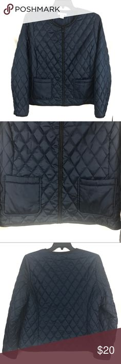 Liz Claiborne Quilted Jacket EUC Dark blue quilted jacket with front pockets Liz Claiborne Jackets & Coats