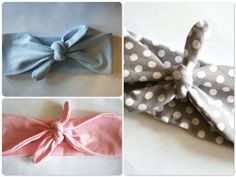 Baby Headbands // Girl Headbands // Vintage Style Headbands // Bow Tie Headband // Modern and Sweet // Pick any THREE, size 6-12 months please. Check out other pins from this seller! I love them!