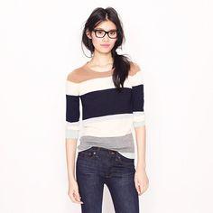 tippi sweater in colorblock stripe | j crew