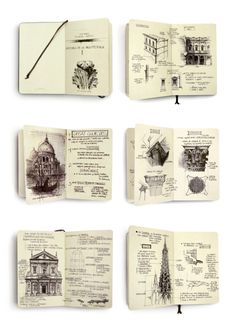 Increibles dibujos Classic Architecture Studies by Chema Pastrana, via Behance