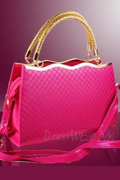 Dresswe.com SUPPLIES Amazing Sweet Wave Shape Alloy Hand Plaid Bag Handbags