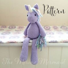 ༺༺༺♥Elles♥Heart♥Loves♥༺༺༺ ........♥Crochet Amigurumi♥........ #Amigurumi #Patterns #Crochet #Softies #Childrens #Toys #Handmade #Teddy #Doll #Tutorial #Patterns #Collectable~ ♥Amigurumi Patterns by The Merino Mermaid Lavender the Unicorn