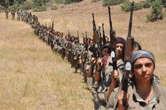 Women heading to Kobane to fight ISIS..... Higher Respect !