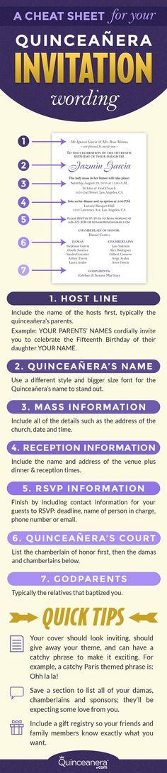 An example for your quinceanera invitation wording | http://www.quinceanera.com/invitations/a-cheat-sheet-for-you-quinceanera-invitation-wording/?utm_source=pinterest&utm_medium=social&utm_campaign=invitations-a-cheat-sheet-for-you-quinceanera-invitation-wording