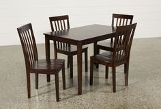 Carson II 5 Piece Dining Set - Living Spaces