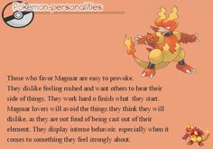 Pokemon Personalities - Magmar - #126/719.