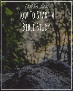 how to start a bible study